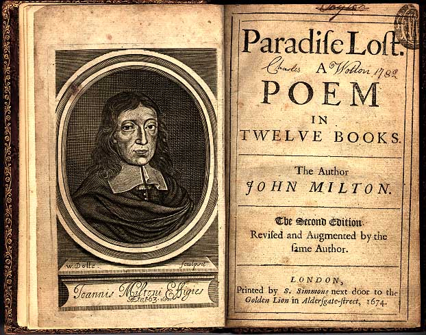 Frontisepiece to the Second Edition of Paradise Lost