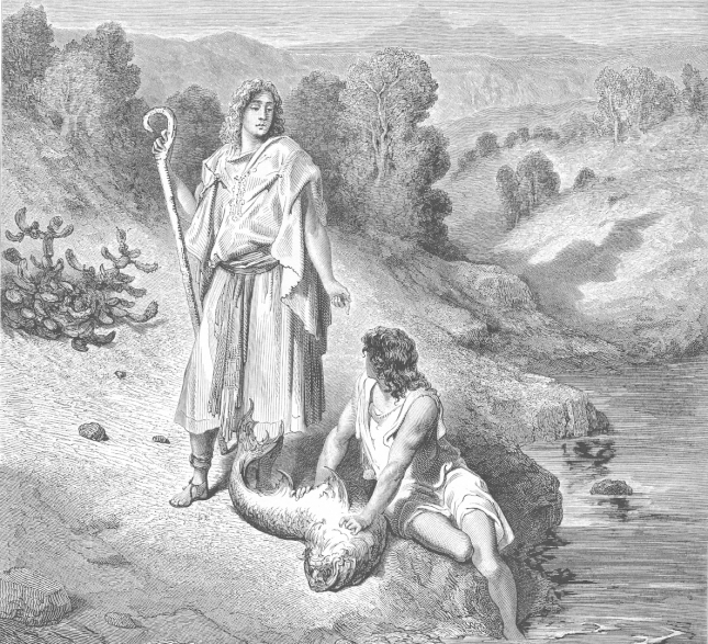 'Raphael and Tobias' by Gustav Dore