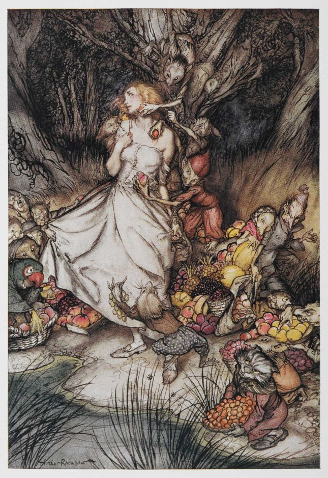 Goblin Market Illustration by Arthur Rackham