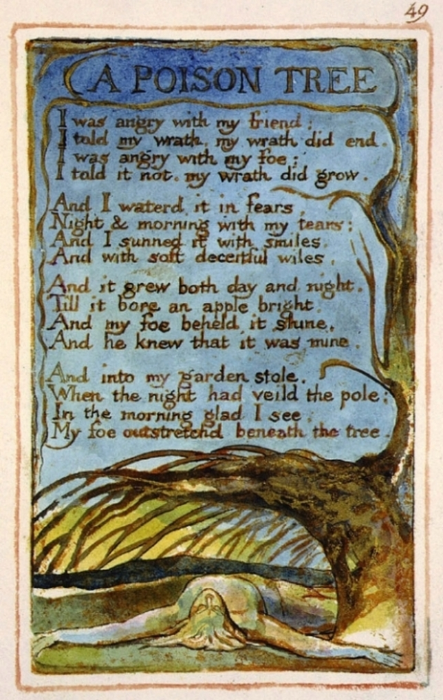 'A Poison Tree' from Songs of Experience by William Blake