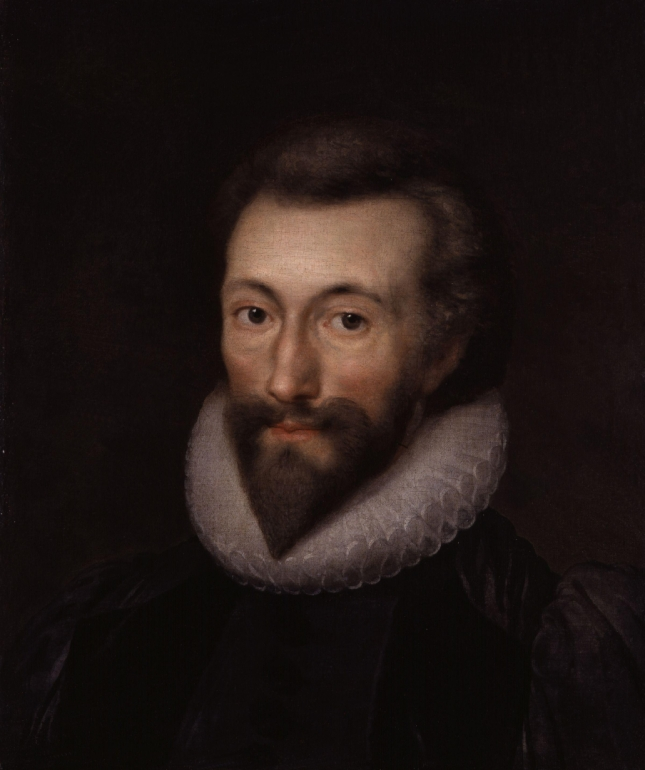 John Donne, painted by Isaac Oliver