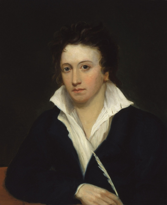 Percy Bysshe Shelley, by Alfred Clint